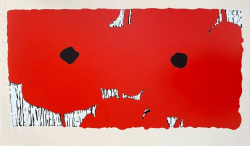 Red Poppies, Limited Edition Silkscreen, Donald Sultan