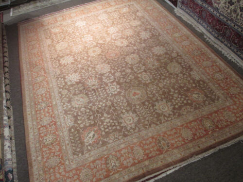 9x12 Museum Allover-Pattern Vegetable Dye Handmade-knotted Wool Rug 580510