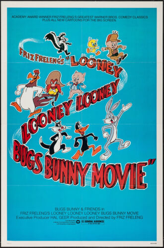 """Daffy Duck /& Bugs Bunny Miami Vice Vintage Poster  22/""""x 28/"""" New in shrink wrap"""
