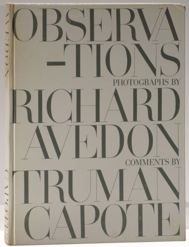 Richard Avedon Truman Capote Observations 1959 first edition Brodovich design