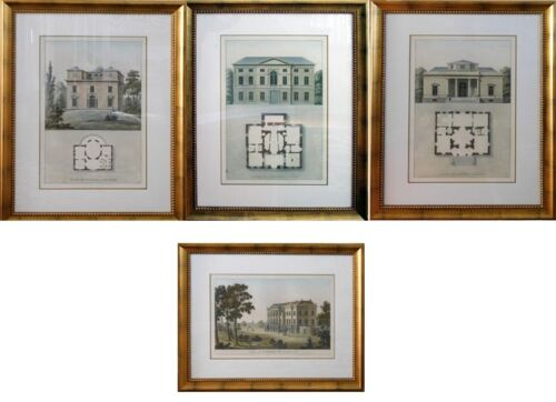 Original Lithographs ARCHITECTURAL art  4 pieces framed PICK UP only in Colorado