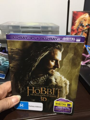 The Hobbit Part 2: The Desolation of Smaug (5 Disc +Blu-ray +DVD) 3D BLU-RAY