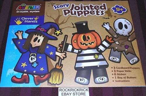SCARY JOINTED PUPPETS (ACTIVITY SET) AGES 5+ (BRAND NEW) VIEW DESCRIPTION