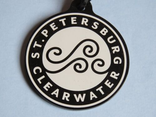 Cool Round Plastic Airlines Luggage Tag ~ St Petersburg / Clearwater, Florida