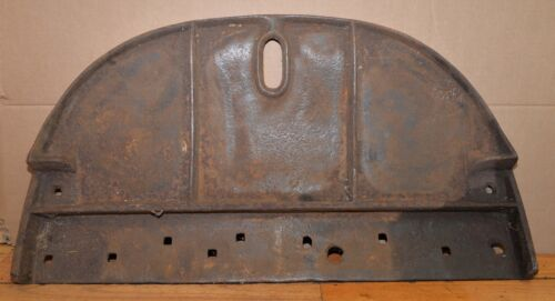 Rare antique Leroy Plow Co stone boat front collectible NY cast iron farm tool