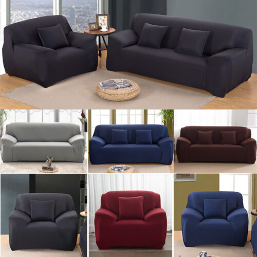 EASY Stretch Couch Sofa Lounge Covers Recliner 1 2 3 4 Seater Dining Chair Cover <br/> 4 Sizes✔LIMITED TIME SALE✔Buy with confidence✔