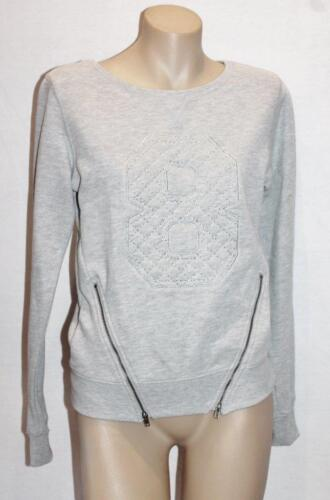 Free Fusion Brand Grey Crew Neck Zips Long Sleeve Sweater Top Size 4 BNWT #SQ09