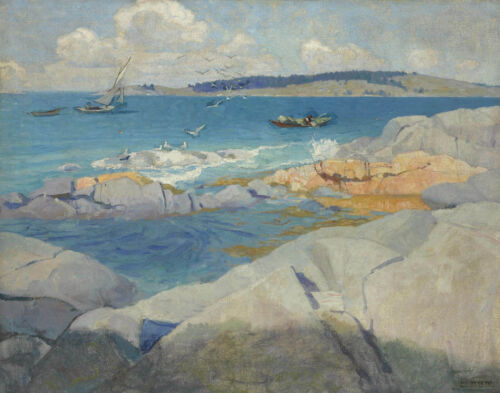 Newell Convers Wyeth View Of Blubber Butt Canvas Print 16 x 20  #3725