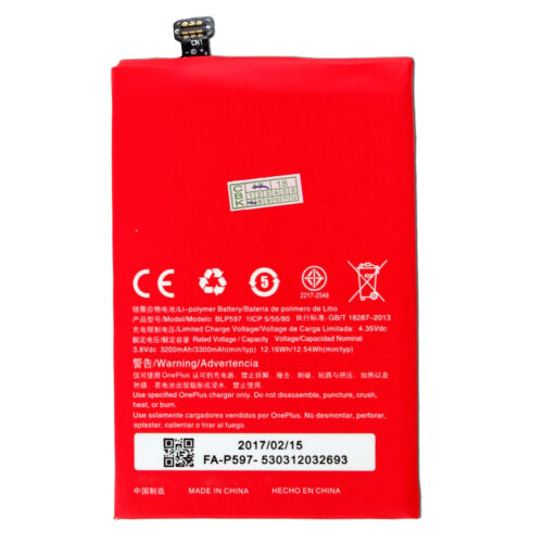 New 3300mAh 3.8V Internal Li-ion Battery For Oneplus 2 Two A2001 A2003 A2005