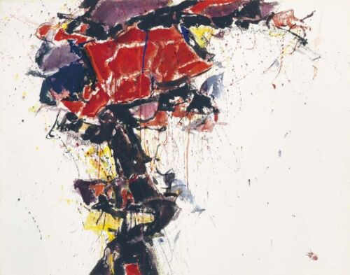 Sam Francis Red Winged Canvas Print 16 x 20       #4106