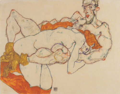 Schiele Egon Lovers Canvas Print #2 16 x 20    #4231