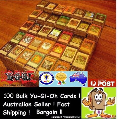 YuGiOh! 100 Bulk Cards Pack [10 Rares & HOLOS] GENUINE KONAMI. FREE SLEEVES <br/> ☆☆☆BEST CARDS GUARANTEED ☆☆ TOP RATED POWERSELLER☆☆☆