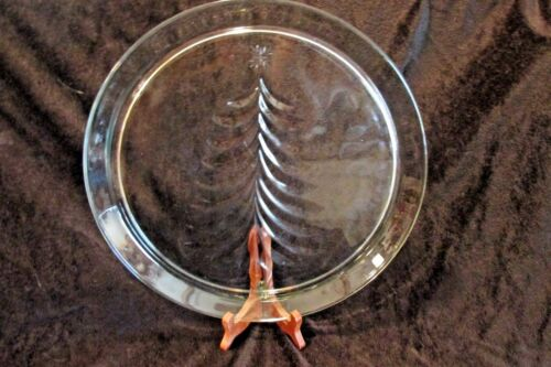 "Indiana Glass Hometrends Christmas Tree 13"" Serving Platter"