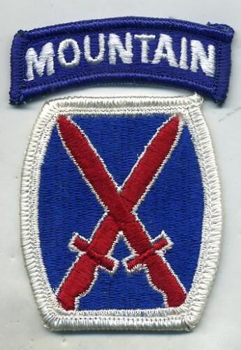 US Army 10th Mountain Division Color Patch With TabPatches - 36078