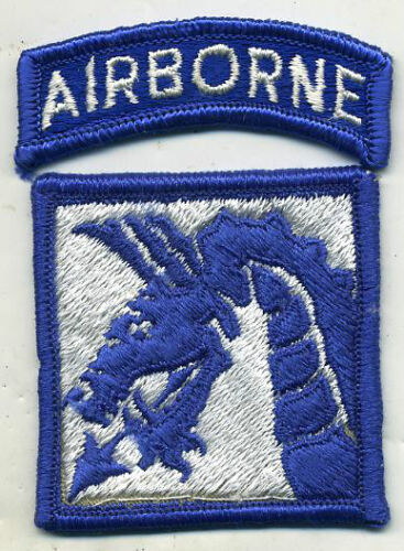 Vietnam Era US Army 18th Corps Airborne Color Patch W/TabPatches - 104015