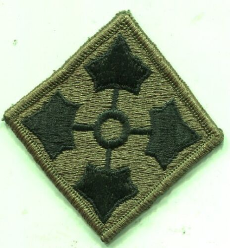 Vietnam Era Army 4th Infantry Division OD Subdued Patch Patches - 36078
