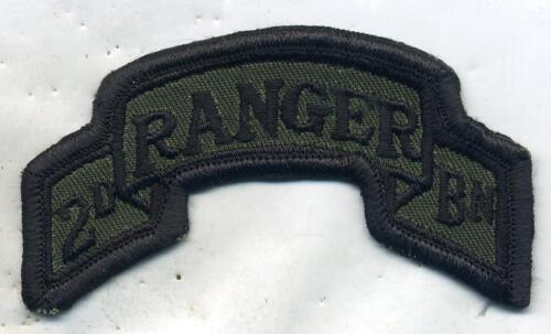 Vintage US Army 2nd Ranger Bn Patch Tab OD SubduedPatches - 36078