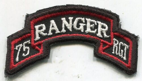 Vietnam Era US Army 75th RANGER RGT Color Scroll Tab Patch Cut EdgePatches - 104015