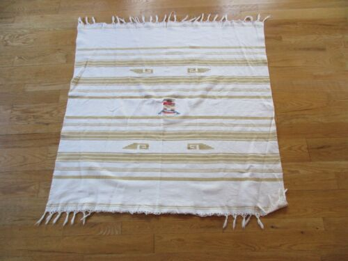 SOUTHWEST DESIGNED RUG, BLANKET, TABLE COVER 46X48 HAND WOVEN, CHI-0318*02248