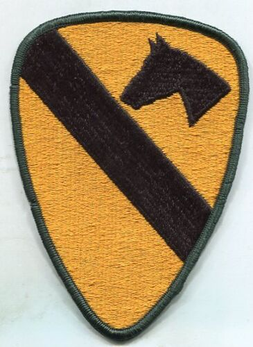US Army 1st Cavalry Color Patch iron on or Sew OnPatches - 36078