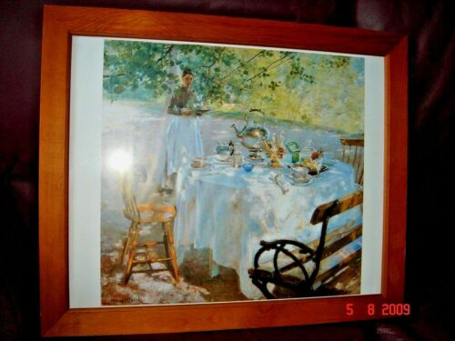 Printed Color Picture of Painting, Wood & Glass Frame