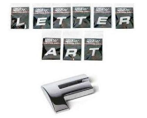 Sumex Chrome 3D Self-Adhesive Letter Art Car Badge Signs Sticker For Home & Auto