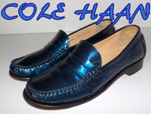 """Fabulous """"COLE HAAN""""  Blue Patent  Leather  LOAFERS  Shoes  UK 3.5  EU 36  £95"""