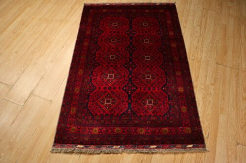 3x5 SUPER FINE Afghan Stunning  Antique Design Handmade Knotted Wool Rug 582824