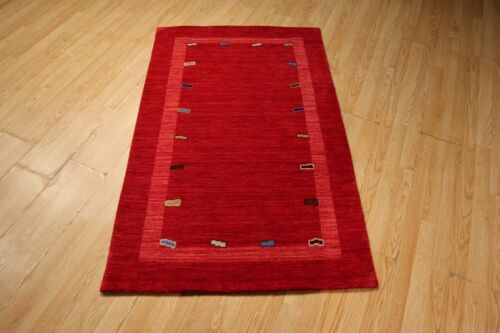 3x5 Modern Agra ABC Collection Vegetable Dye Handmade-knotted Wool Rug 585336