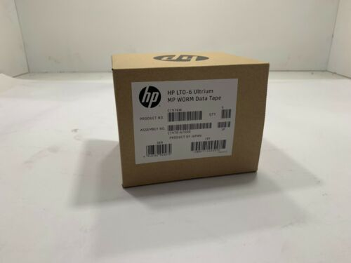 5x HPE LTO-6 Ultrium 6.25TB MP Worm Data Tapes C7976W !! BRAND NEW!!