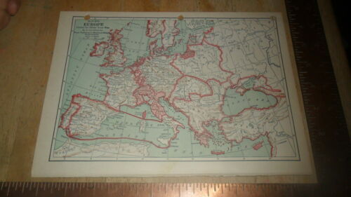 ORIGINAL MAP - EUROPE - STEINWEHR 1894