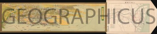 1934 PANORAMA MAP OF KAWASAKI, JAPAN