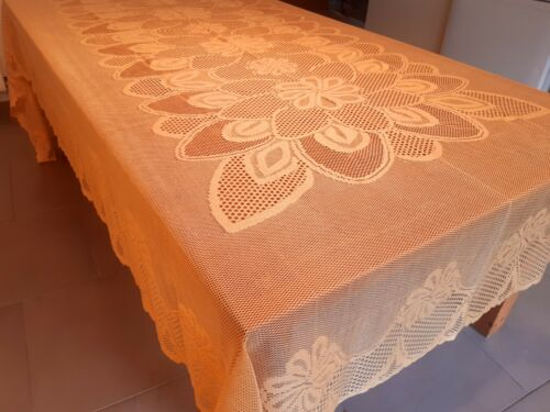 1Only Rectangle X-Wide170*300cm Gold Lace Polyester Tablecloth