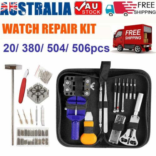 20/380/506Pcs Watch Repair Tool Kit Opener Hand Watchmakers Remover Pin Bars Set