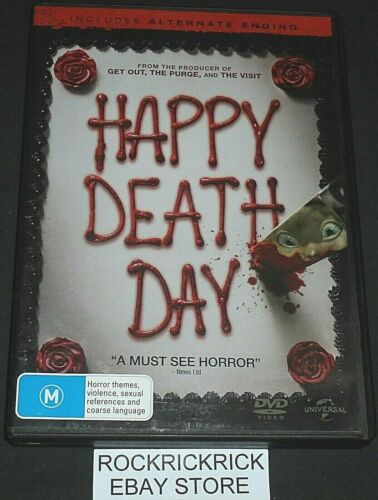 HAPPY DEATH DAY DVD REGION 2,4 (INCLUDES ALTERNATE ENDING)