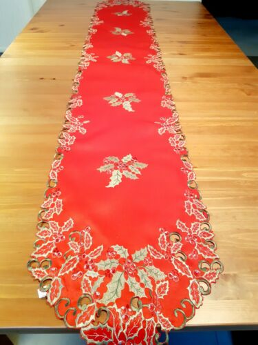 XMAS Green/Red Polyester Rectangle 40*180cm Table-Runner