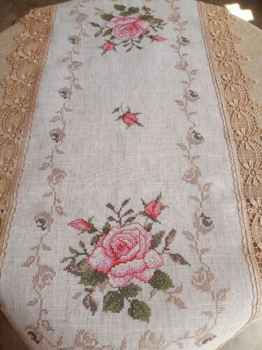 (Set Of 2) Rectangle 40*90cm Embroidered CrossStitchStylePolyester T/Runners