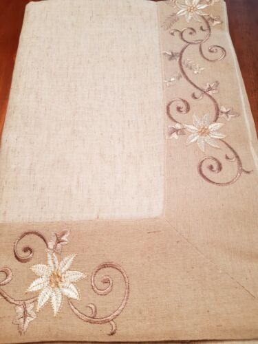 230*230cm SQ Linen/Look OatmealSwirl Premium Polyester T/Cloth