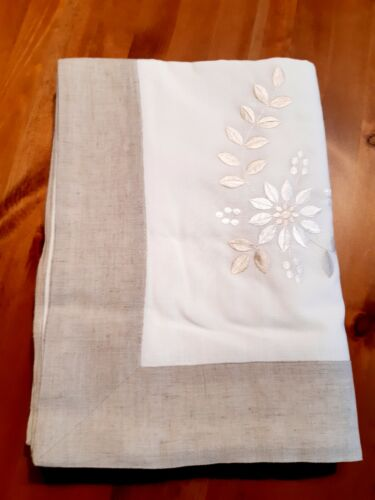 Rectangle 180*350cm Linen/Look Mushroom Embroidered PremiumPolyester T/Cloth