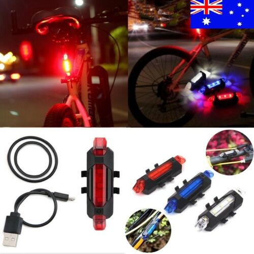 Rechargeable Bike Bicycle Cycling Front Rear Tail Light LED Lamp