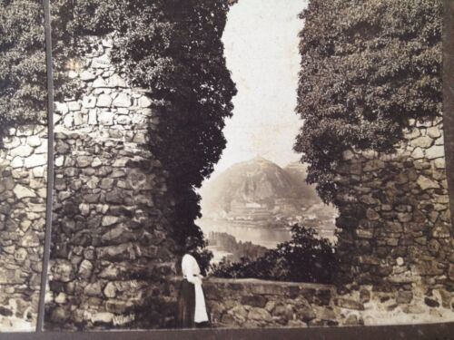 Stereoview Card 1902 Rolands Arch Germany H C White Rhine Antique Photo