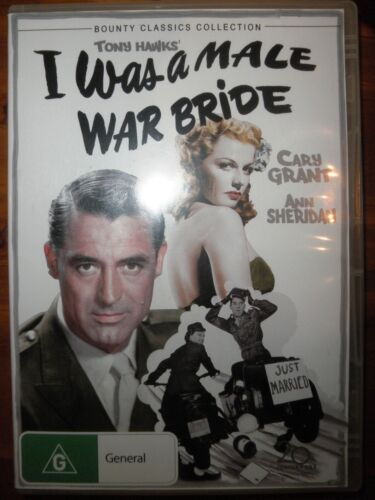 I Was a Male War Bride DVD Tom Hanks Cary Grant Ann Sheridan Very Good Condition