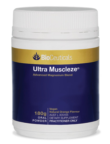BioCeuticals Ultra Muscleze 180g Magnesium Oral Powder Supports Stress Response