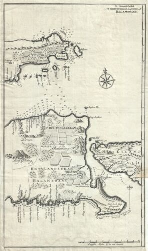 1726 Valentijn Map of East Java, Indonesia