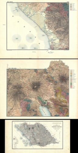 1883 Stemler Topographical and Geological Atlas of western Sumatra, Indonesia