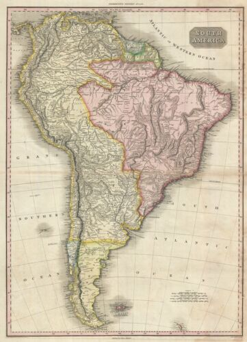 1818 Pinkerton Map of South America