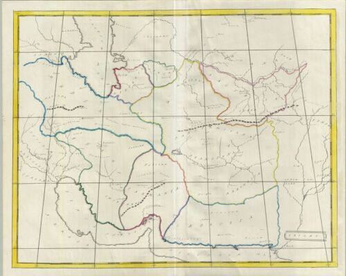 1823 Manuscript Map of Persia in Antiquity (Iran, Iraq, Afghanistan)