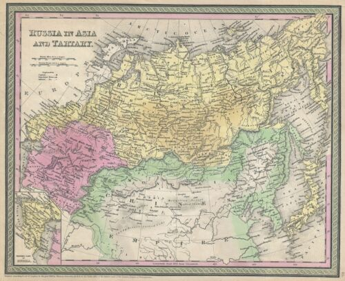 1853 Mitchell Map of Russia in Asia and Tartary