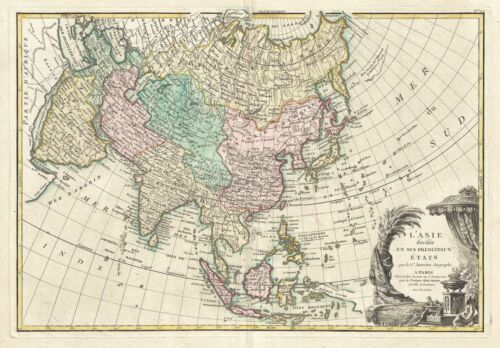 1770 Janvier Map of Asia