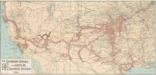 1915 M.B. Brown Railroad Map of the Western United States